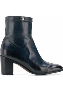 Alberto Fasciani Ankle Boot 'Windy' De Couro - Azul