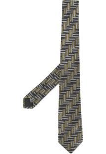 Cerruti 1881 Gravata De Seda Com Padronagem - Estampado