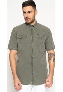 Camisa Com Bolso- Verde Militar- Tritontriton