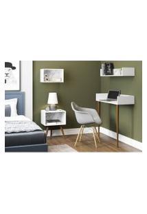 Aparador/Escrivaninha Branco/Carrara Be Mobiliário