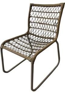 Cadeira Trancinha Marrom Base Fendi Texturizado - 50625 - Sun House