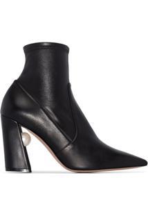 Nicholas Kirkwood Miri 90Mm Stretch-Leather Boots - Preto