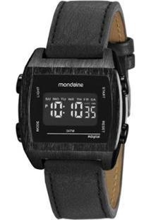 Relógio Mondaine Vintage 39Mm Couro Feminino - Feminino-Preto