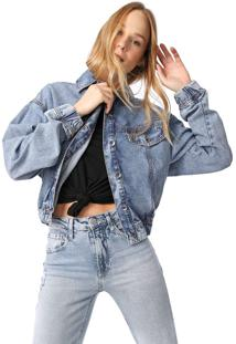 Jaqueta Jeans My Favorite Thing(S) Pespontos Azul
