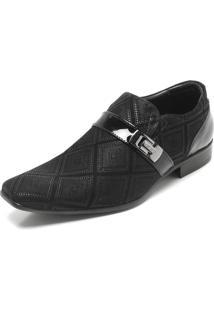 Sapato Social Couro Jota Pe Texturizado Preto