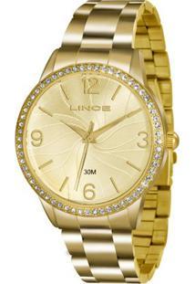 Kit Relógio Feminino Lince Lrgj049L Kt10C2Kx Analógico 3 Atm + Conjunto Semijoia