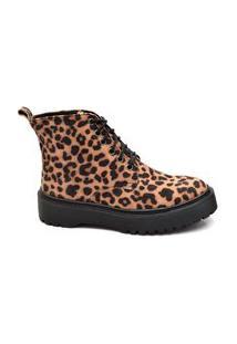Bota Onça Feminina Tratorada Shoe Salto Médio Casual