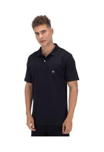 Camisa Polo Hd Estampada Simple 5653A - Masculina - Preto