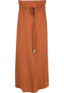 Osklen Calça Pantalona Amarração - Marrom