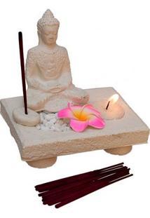 Incensário Porta-Vela Buda Zen - Bali