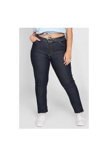 Calça Jeans Planet Girls Skinny Pespontos Azul-Marinho