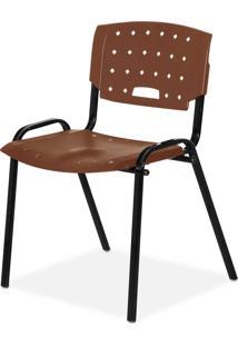 Cadeira Plastica Fit Marrom Giobel - Marrom - Dafiti