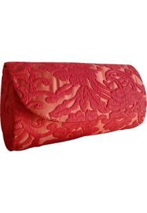 Clutch Artestore Renda Coral/Vermelho