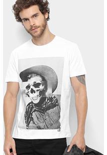 Camiseta Ellus 2Nd Floor Skull Cowboy Masculina - Masculino-Branco