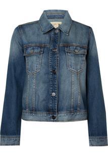 Jaqueta Le Lis Blanc Jeans Basic Blue Azul Feminina (Jeans Médio, M)