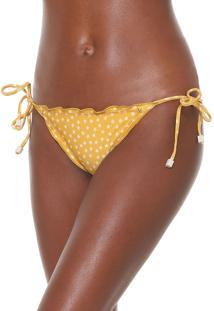 Calcinha Cia.Maritima String Estrelas Amarela