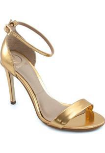 Sandália Dumond - Feminino-Ouro