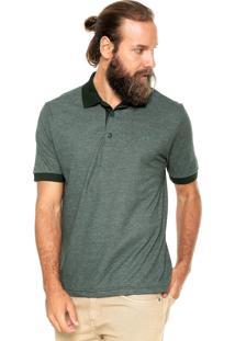 Camisa Polo Mr Kitsch Maga Curta Double Verde