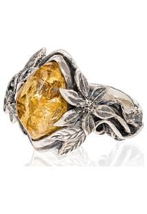 Lyly Erlandsson Anel De Prata Com Pedra - Silver