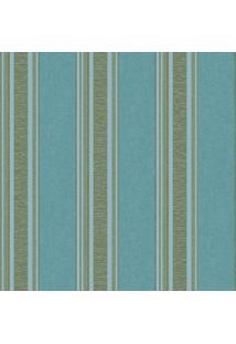 Papel De Parede Listras- Azul & Cinza- 53X1000Cmevolux