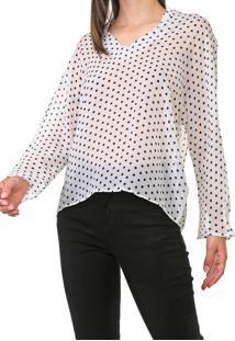 Blusa Calvin Klein Poã¡ Branca - Branco - Feminino - Poliã©Ster - Dafiti