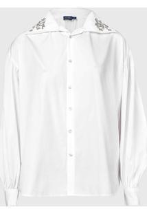 Camisa Polo Ralph Lauren Reta Bordado Branca