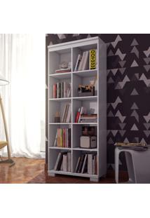 Estante Para Livros C605 Bb Branco Brilho - Dalla Costa