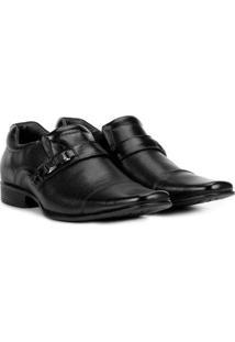Sapato Social Couro Rafarillo Office Perfuros Masculino - Masculino-Preto