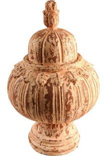 Pinha Decorativa De Resina Grande