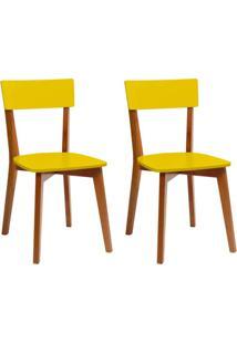 Conjunto Com 2 Cadeiras Tóquio Mel E Amarela