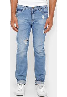 Calça Jeans Reta Razon Rasgos Masculina - Masculino