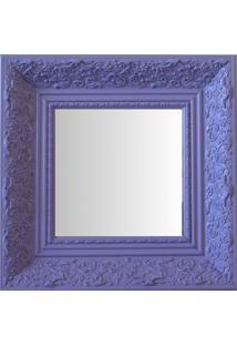 Espelho Moldura Rococó Fundo 16225 Lilás Art Shop