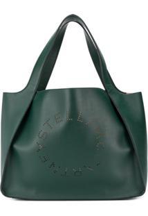 Stella Mccartney Bolsa Tote Stella Com Logo Perfurado - Verde
