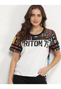 Camiseta Triton Raglan Feminina - Feminino-Estampado
