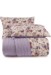 Conjunto De Colcha Floral Malha In Cotton King Size- Amaaltenburg