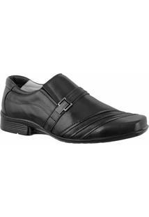 Sapato Social Confort Ranster Premium Com Fivela - Masculino-Preto
