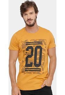 Camiseta Yellowl Estampa Camuflada Masculina - Masculino
