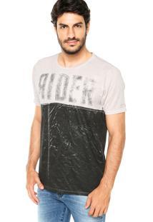 Camiseta Guess Rider Preta/Bege