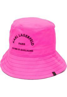 Karl Lagerfeld Chapéu Rue St Guillaume Com Fivela - Rosa