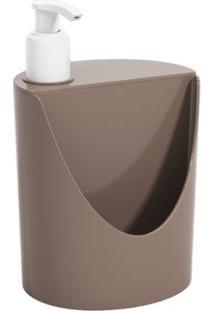 Dispenser De Cozinha Para Detergente E Esponja Basic Cinza Escuro Brinox