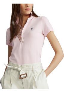 Camisa Polo Polo Ralph Lauren Reta Rosa