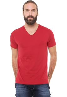 Camiseta Aramis Regular Fit Lisa Vermelha