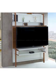 Estante Home Theater Para Tv Até 60 Polegadas Karl 180 X 134,8 X 25,5 Branco/Freijó - Urbe Móveis