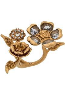 Versace Anel De Flores - Dourado