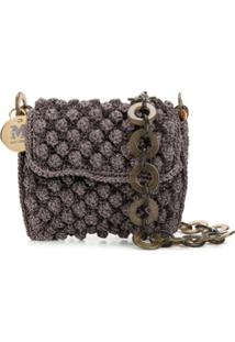 M Missoni Knitted Chain-Strap Mini-Bag - Roxo
