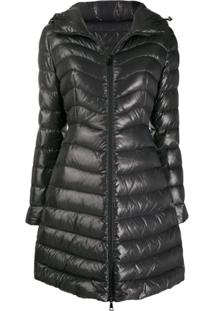 Moncler Hooded Midi Puffer Jacket - Cinza