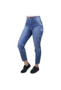 Calça Jeans Mom Com Detalhe Feminina Biotipo