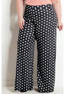 f8dc62a99 ... Calça Pantalona Poá Plus Size Marguerite