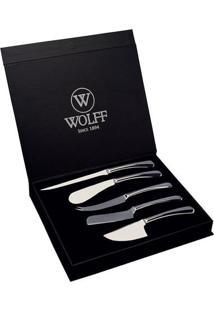 Jogo De Facas Para Queijo Oxford- Inox- 5Pçs- Wowolff