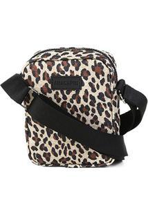 Bolsa Anacapri Pqn Mini Bag Lona Animal Print Onça Mini Feminina - Feminino-Onça
